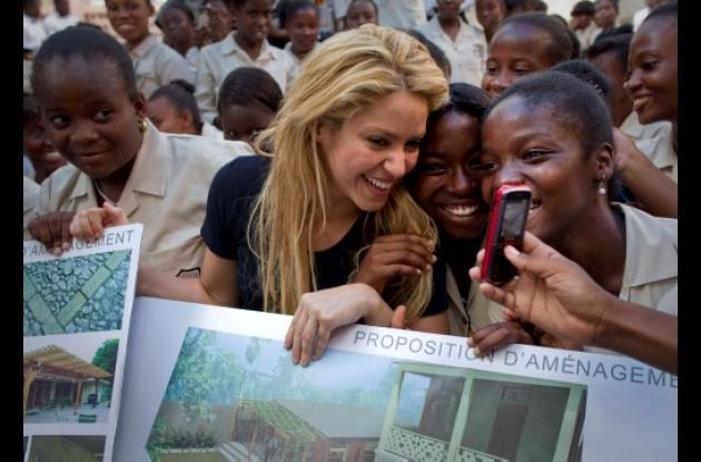Shakira en Haití