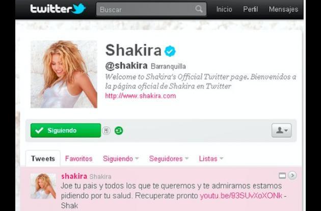 Twitter de Shakira