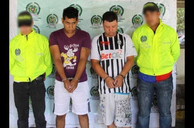 Ferney Estiven Duque Espinal, alias 'Gadafi', y Óscar William Rodríguez Jaramill
