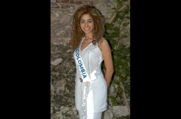 Pierina Cossio, fue Reina de Colombia en Miss Italia en el Mundo en 2005