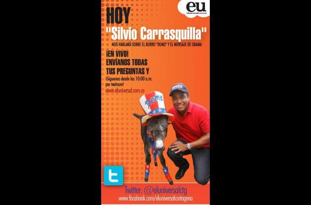 Mañana, twitcam con Silvio Carrasquilla.