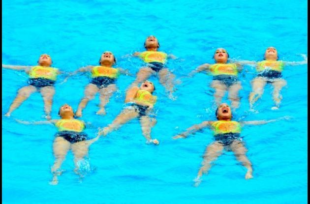 Equipo de Antioquia de nado sincronizado