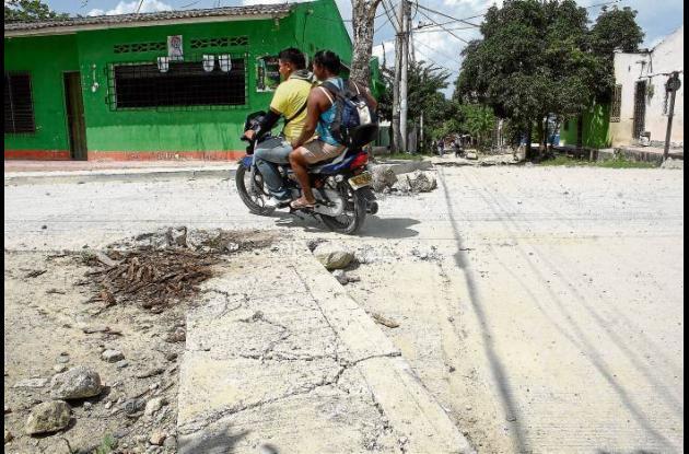 La carrera 19 del barrio Progreso en Sincelejo, se encuentra deteriorada.
