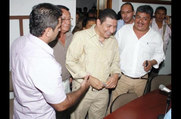 Noel Alfonso Morales Tuesca, al ser elegido nuevo Personero