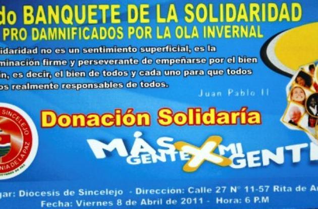 Banquete de la Solidaridad de la Diócesis de Sincelejo.