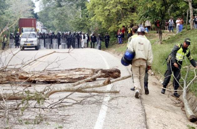 bloqueo de la carretera troncal del Caribe