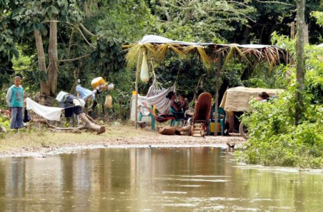 Zonas inundadas en Sucre