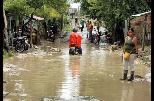 Inundaciones en barrios de Sincelejo