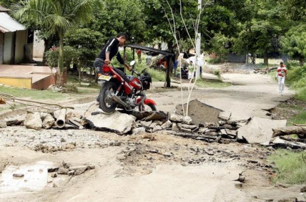 Bloqueos por mal estado de las vías en barrios de Sincelejo