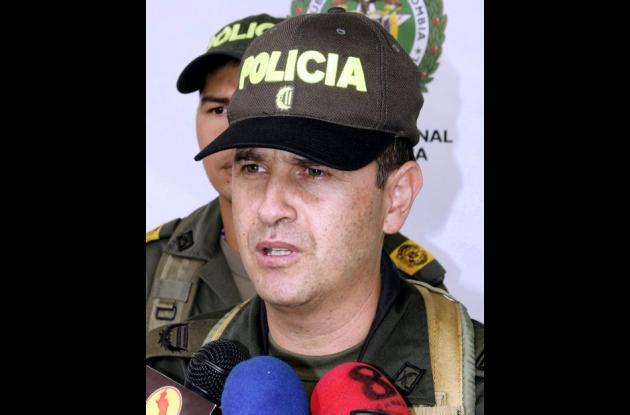 Coronel Meyer Ibarra, comandante (e) de la Policía.