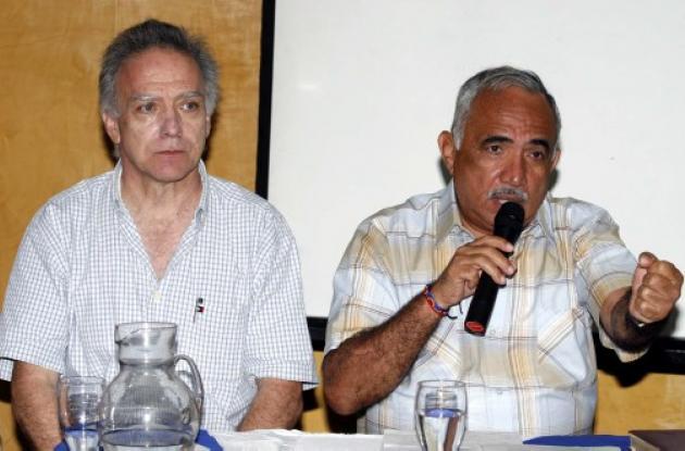 Luis Felipe Villegas Angel, aspirante a la Gobernación de Sucre, y Carlos Vergar