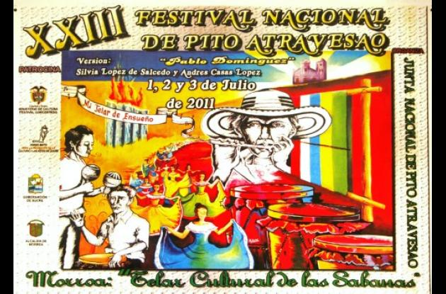Afiche promocional del Festival Nacional de Pito Atravesao.