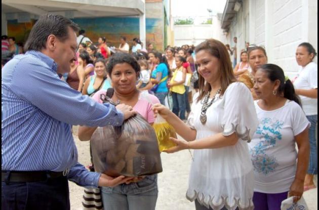 Ayer continuó la entrega de alimentos a los beneficiarios en Sincelejo.