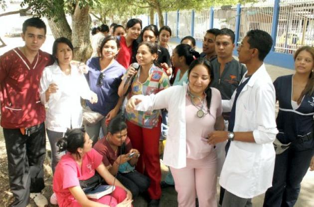 Los médicos internos  en el HUS protestaron
