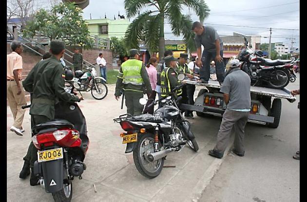 Las motocicletas que violen lo dispuesto en el pico y placa, serán inmovilizadas