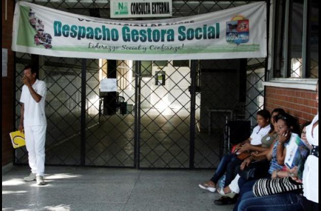 El área de consulta externa permaneció cerrada ayer.