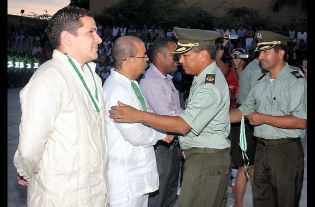 Exaltaciones de la Policía Sucre, el Director del C.T.I y Director de