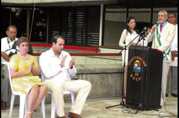 gobernador de Sucre, Julio Guerra Tulena en su posesión