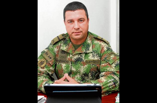 Mayor Carlos Cristancho Niño, comandante del Distrito Militar No 11.