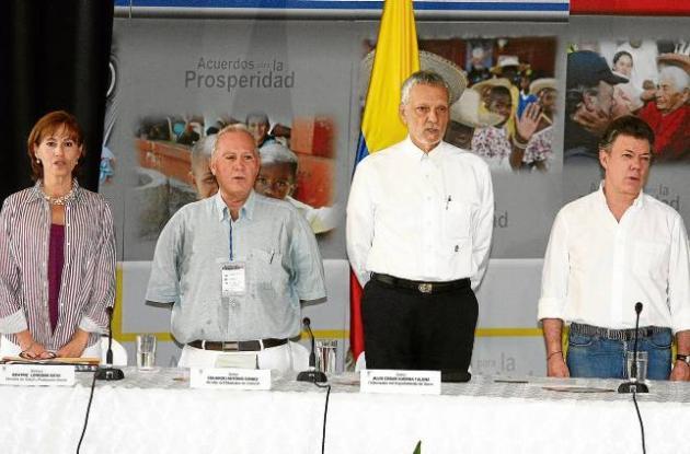 El presidente de la República, Juan Manuel Santos, en Corozal