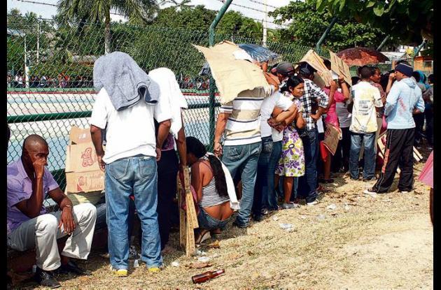Pago a los desplazados en situaciones infrahumanas