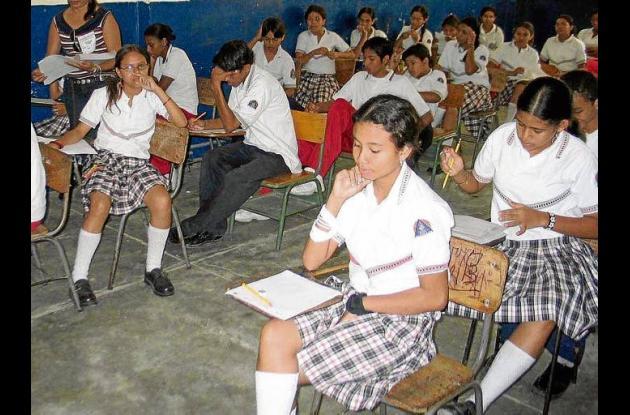 estudiantes matriculados en las instituciones educativas.