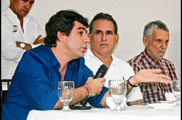 El ex alcalde de Barranquilla, Alex Char, durante el conversatorio