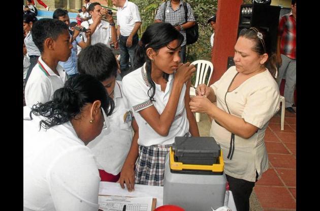Cobertura de vacunación en Sucre