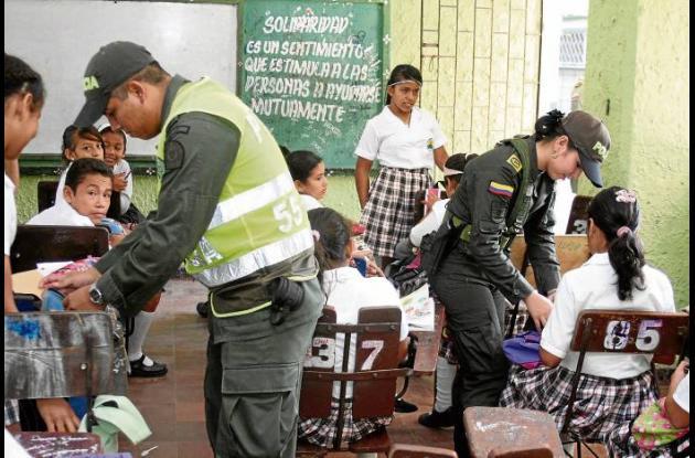 Los directivos valoraron el acompañamiento de la Policía Nacional a la comunidad