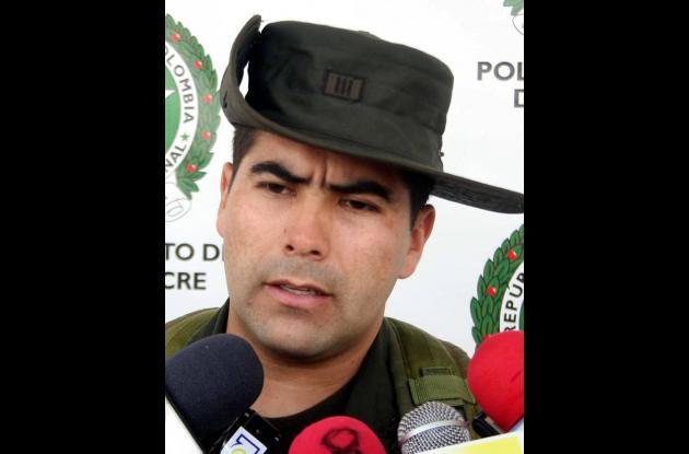 Capitán gustavo Chaparro, jefe de la Seccional de Tránsito y Transportes de Sinc