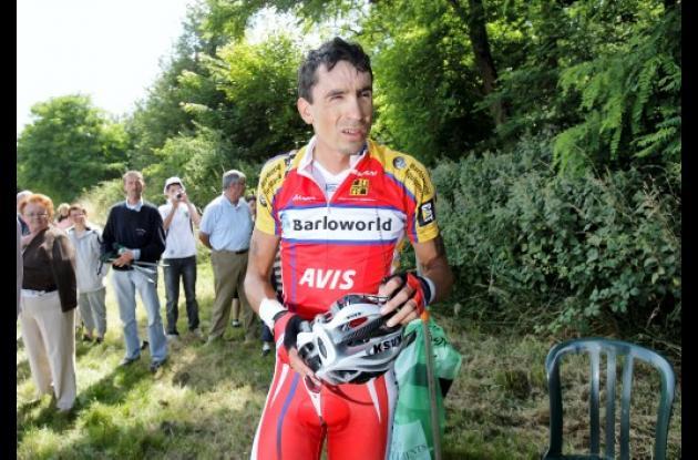 Juan Mauricio Soler en el Tour de Francia 2008.