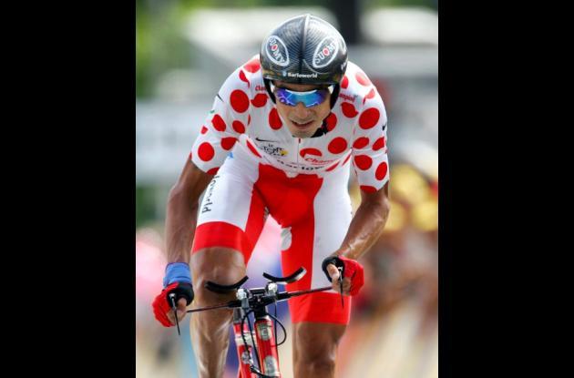 Juan Mauricio Soler en el Tour de Francia 2007.