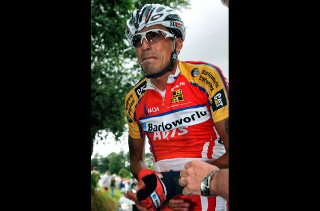 Juan Mauricio Soler, ciclista colombiano, en el Tour de Francia de 2008.