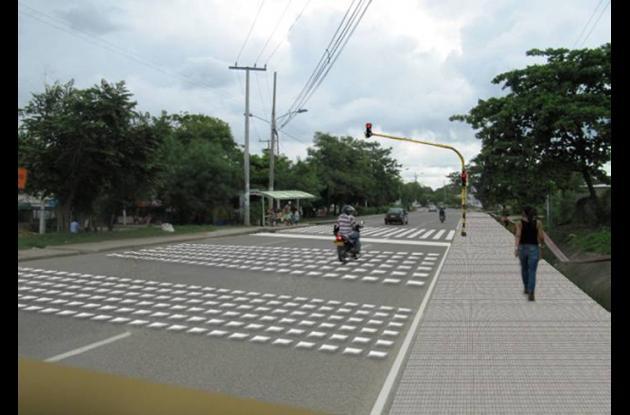 Solución propuesta por el CFPV para cruce de peatones frente a Santa Clara.