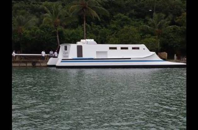 Con el catamarán se busca impulsar el turismo en esta parte del país.