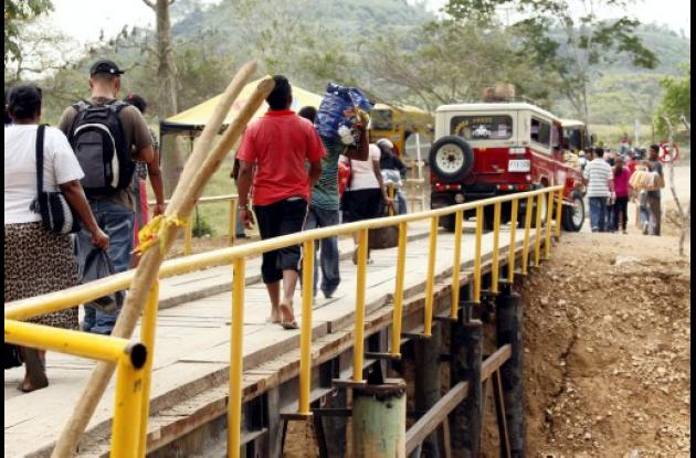 dificultad de transitar por el sector de Pichilín