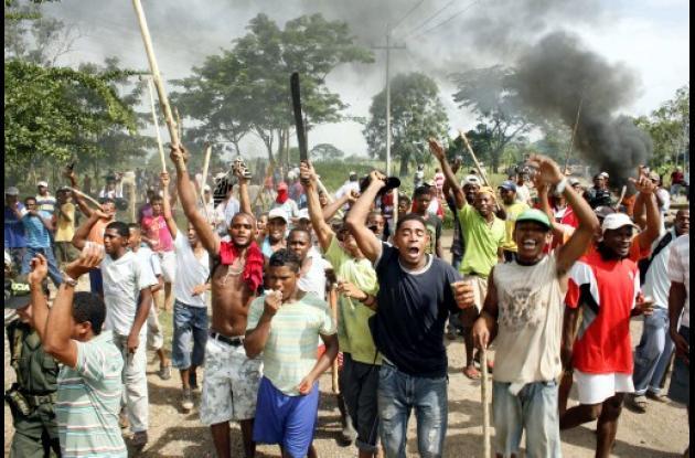 protesta de corregimientos de Pita Bajo, Pita en Medio y Pita Arriba