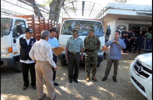 La entrega de vehículos a los diferentes organismos de Seguridad