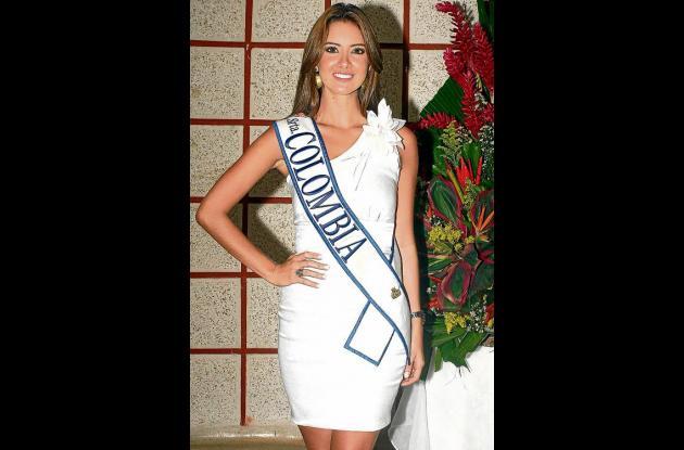 La señorita Colombia, Daniela  Alvarez Vásquez, participará hoy en el Desfile
