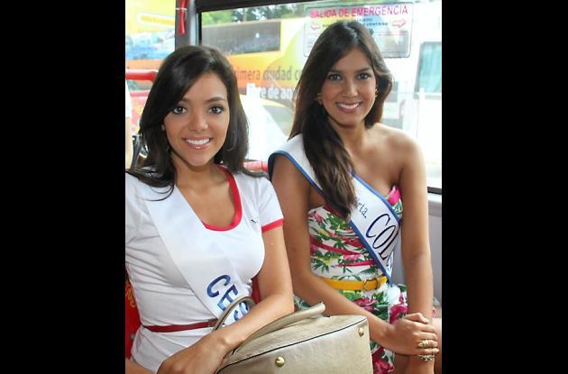 Señorita Cesar María Laura Quintero y la Señorita Colombia, Catalina Robayo.