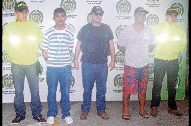 Capturados por asesinato en Sucre.