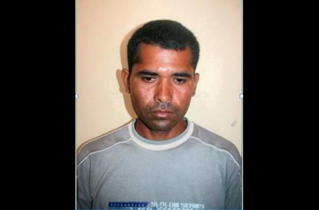 Deiber José Sánchez, capturado por violación.