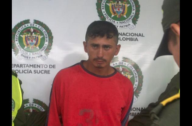 Álvaro José Petano Payarez, capturado.