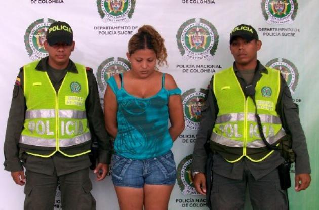 Yuranis Paola Miranda Sierra, capturada con droga.
