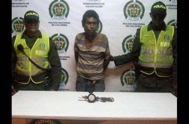 Yeison Manuel Benítez, capturado por la Policía Nacional.