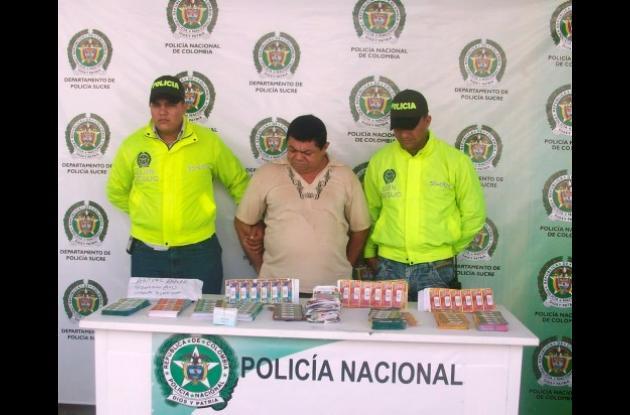 Julio César Rivero González, capturado con rifa ilegal.