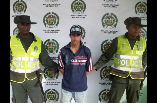 Yimi Alexander Calvo Hernández, capturado.