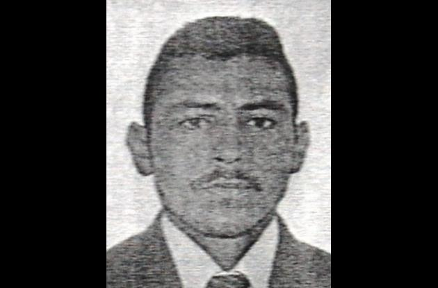 Esneider Muñoz Casanova, dado de baja por policías.