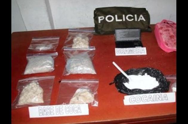 La droga quedó a disposición de las autoridades