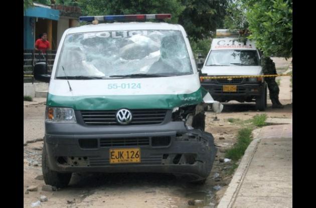 patrulla de la Policía Nacional involucrada en accidente